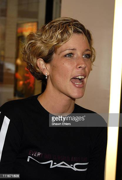 Laura Wright during Laura Wright Appears at MAC's Flatiron Store to Support the Mac Aids Fund on World Aids Day at MAC's Flatiron Store in New York...