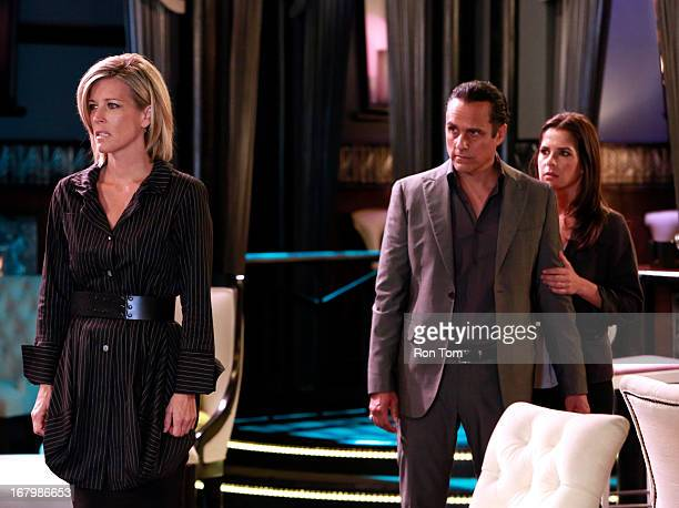 HOSPITAL Laura Wright Maurice Benard and Kelly Monaco in a scene that airs the week of May 27 2013 on ABC's 'General Hospital' 'General Hospital'...