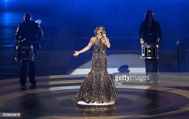 Laura Wright performs during the Opening Ceremony of the Invictus Games Orlando 2016 at ESPN Wide World of Sports on May 8 2016 in Orlando Florida...