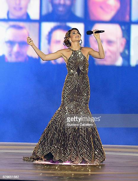 Laura Wright performs on stage during the Invictus Games Orlando 2016 Opening Ceremony on May 8 2016 in Palm Beach Florida