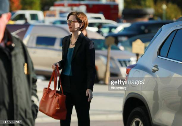 LauraCooper deputy assistant secretary of defense arrives to testify for a closeddoor deposition before House committees on Capitol Hill in...