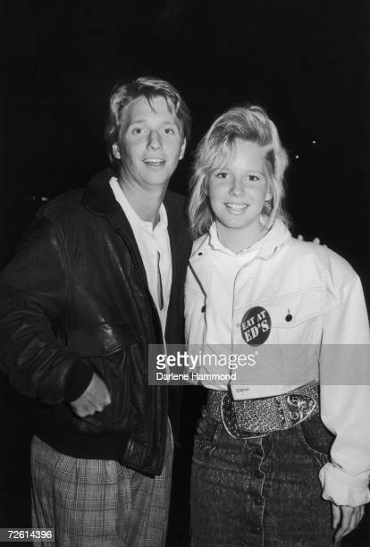 Lauralee Bell star of the longrunning American TV soap 'The Young and the Restless' with her brother Brad in Beverly Hills 29th April 1987 They are...