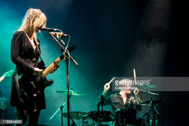 LauraMary Carter and Steven Ansell of Blood Red Shoes open for Pixies at Coliseum A Coruña on October 26 2019 in A Coruna Spain
