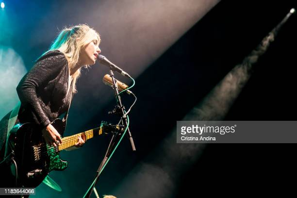 LauraMary Carter from the band Blood Red Shoes opens for Pixies at Coliseum A Coruña on October 26 2019 in A Coruna Spain