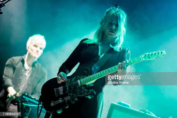 LauraMary Carter from the bandBlood Red Shoes opens for Pixies at Coliseum A Coruña on October 26 2019 in A Coruna Spain