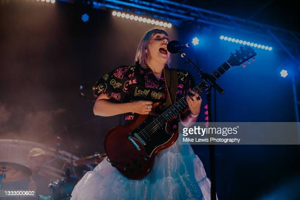 Lauran Hibberd performs on stage at The Bath Festival Finale at Recreation Ground on August 07, 2021 in Bath, England.