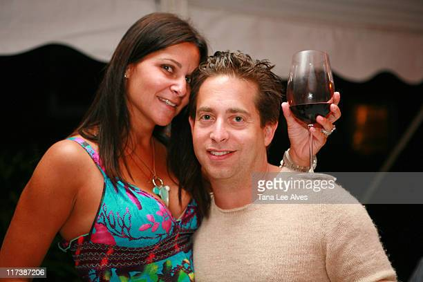Lauran Walk and Charlie Walk during Saturn Sky Dinner hosted by Charlie Walk August 25 2006 at Private Residence in Water Mill New York United States
