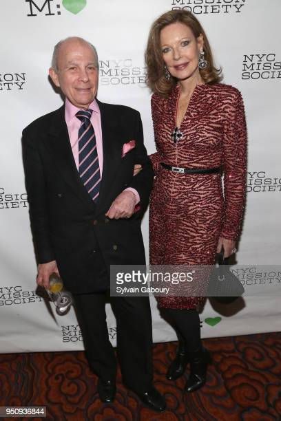 Laurance Kaiser IV and Margo Langenberg attend NYC Mission Society's 2018 Champions for Children gala on April 24 2018 in New York City