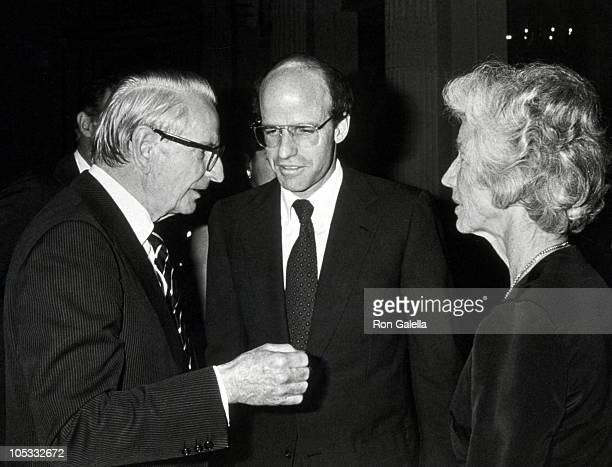 Laurance Rockefeller Son and Mary Rockefeller during Benefit for the Sleepy Hollow Restorations at Plaza Hotel in New York City New York United States