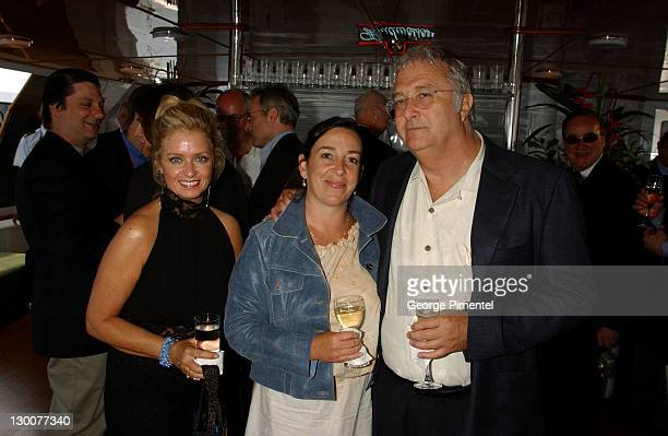 Laurane Sheehan Gretchen Newman Randy Newman during Cannes 2002 Anheuser Busch and Hollywood Reporter Dinner with Randy Newman in Cannes France