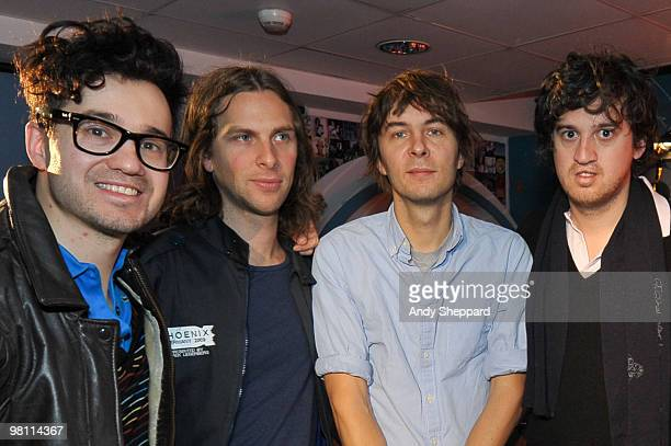 Laurant Brancowitz Deck D'Arcy Thomas Mars and Christian Mazzalai of French alternative rock band Phoenix join Lauren Laverne for a live broadcast...