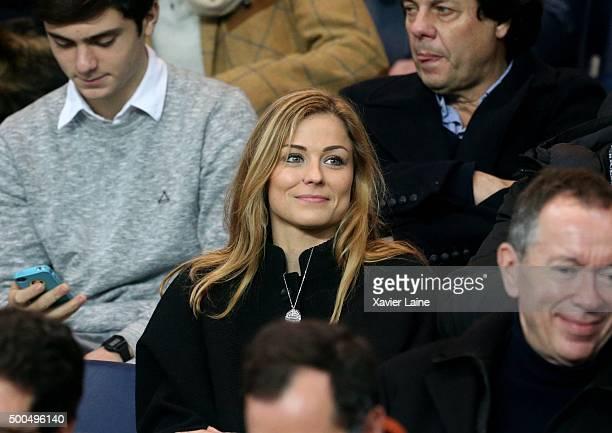 Laure Boulleau attends the UEFA Champions League between Paris SaintGermain and Shakhtar Donetsk at Parc Des Princes on december 8 2015 in Paris...