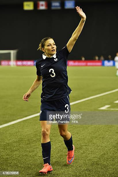 Laure Boulleau of France celebrates at the end of the FIFA Womens's World Cup round of 16 match between France and Korea at Olympic Stadium on June...