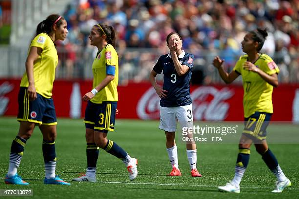 Laure Boulleau of France reacts during the FIFA Women's World Cup 2015 Group F match between France and Colombia at Moncton Stadium on June 13 2015...