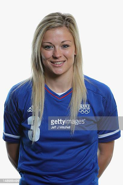 Laure Boulleau poses during the France Women's official Olympic Football Team portraits on July 21 2012 in Glasgow Scotland