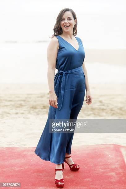 Laure Calamy attends photocall of Cabourg Film Festival on June 16 2018 in Cabourg France