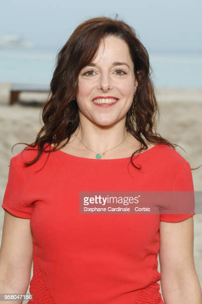Laure Calamy attends the photocall for Nos Batailles during the 71st annual Cannes Film Festival at Nespresso Beach on May 13 2018 in Cannes France