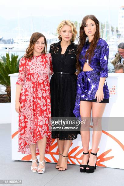"Laure Calamy, Virginie Efira and Adele Exarchopoulos attend the photocall for ""Sibyl"" during the 72nd annual Cannes Film Festival on May 25, 2019 in..."