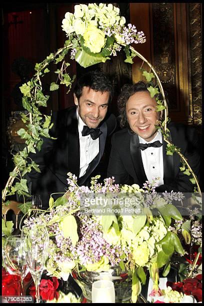 Laure Darcos Stephane Bern at The Gala Evening Celebrating The 35th Anniversary Of L'Arop At L'Opera Garnier In Paris