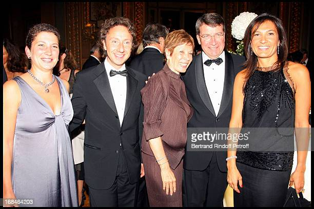 Laure Darcos Stephane Bern Brigitte Lefevre Xavier Darcos and Agnes Cromback at Gala Of The Association For The Influence Of The National Paris Opera...