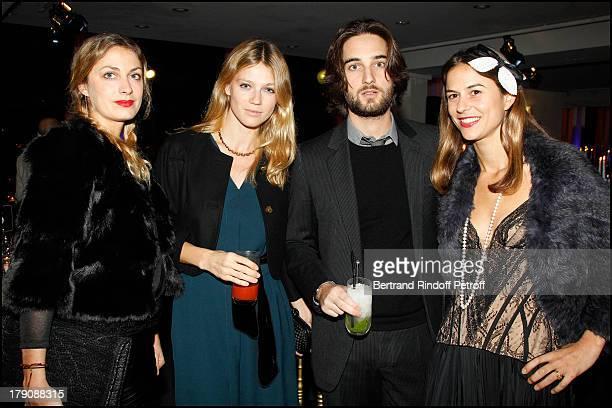Laure De Clermont Tonnerre, Masha Et Dimitri Rassam, Victoire De Pourtales at Fundraising Aem Dinner Held At L'Espace Cardin In Paris In Aid Of...