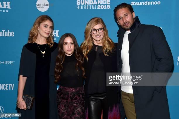 Laure de ClermontTonnerre Gideon Adlon Connie Britton and Matthias Schoenaerts attend the The Mustang Sundance Premiere on January 31 2019 in Park...