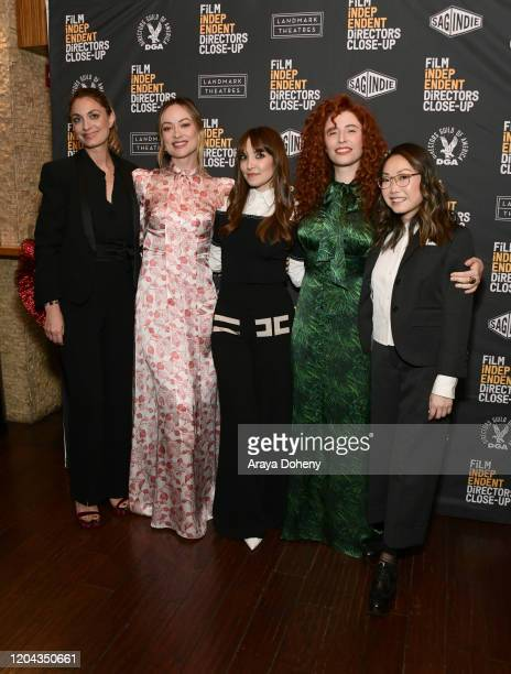 Laure de ClermontTonnerre Olivia Wilde Lorene Scafaria Alma Har'el and Lulu Wang at the Film Independent's Directors Close Up Night 4 at the Landmark...