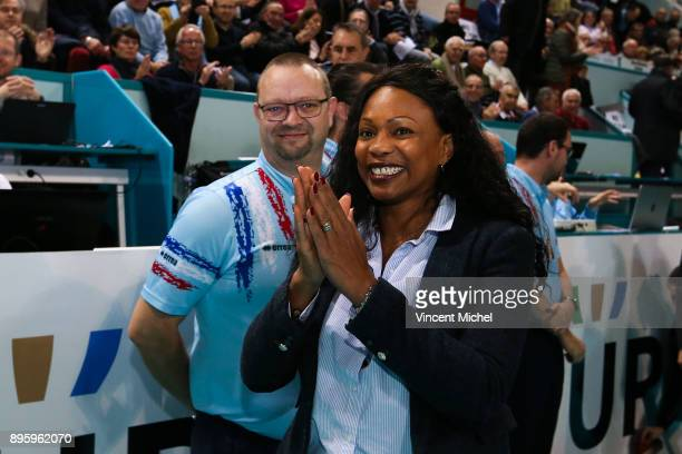 Laure Flessel french Minister of Sports during the CEV Challenge Cup match between Tours and Olympiacos Piraeus on December 19 2017 in Tours France