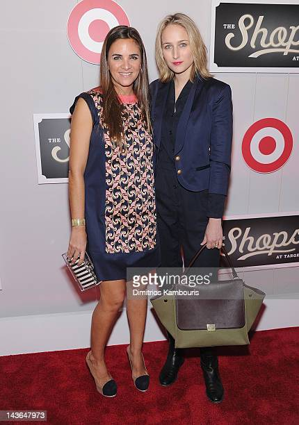 Laure Heriard Dubreuil and actress Leelee Sobieski attend The Shops At Target Launch Party on May 1 2012 in New York United States