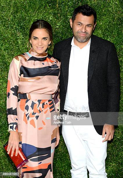 Laure Heriard Dubreuil and Juan Carlos Obando attend the 12th annual CFDA/Vogue Fashion Fund Awards at Spring Studios on November 2, 2015 in New York...
