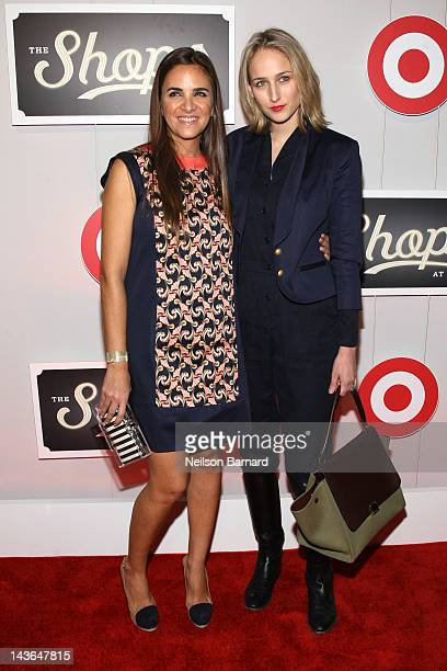 Laure Heriard Dubreuil and Leelee Sobieski attend The Shops At Target Launch Event In IAC Building on May 1 2012 in New York City