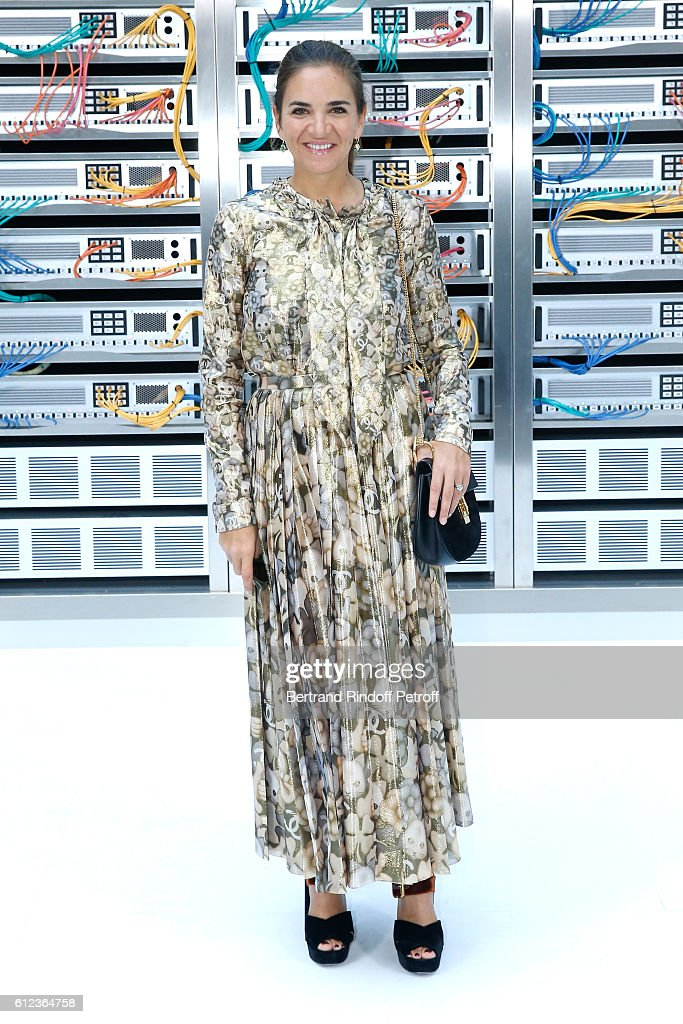 Laure Heriard Dubreuil attends the Chanel show as part of the Paris Fashion Week Womenswear Spring/Summer 2017 on October 4, 2016 in Paris, France.
