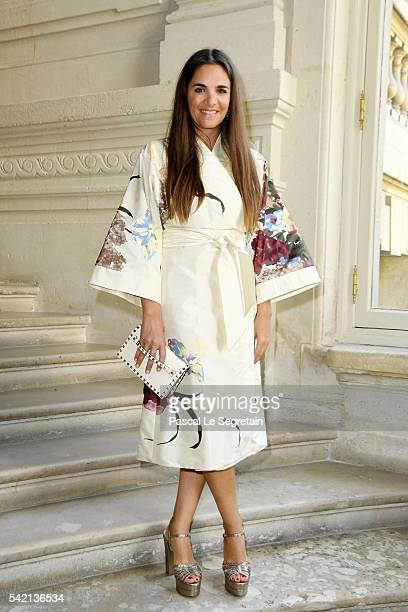 Laure Heriard Dubreuil attends the Valentino Menswear Spring/Summer 2017 show as part of Paris Fashion Week on June 22 2016 in Paris France