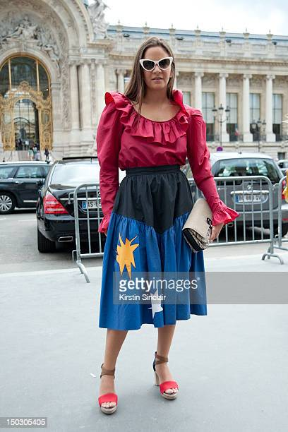Laure Heriard Dubreuil store owner at Paris Fashion Week Autumn/Winter 2012 haute couture shows on July 03 2012 in Paris FRANCE