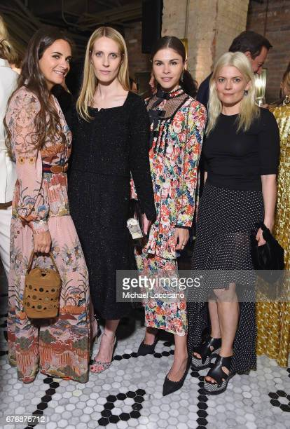 Laure Heriard Dubreuil Vanessa Traina Emily Weiss and Kate Young attend cocktails hosted by The Business of Fashion to celebrate BoF's special print...