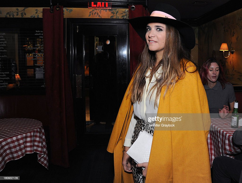 Laure Heriard-Dubrueil attends the Band Of Outsiders Fashion Week Mens Collection After Party held at the Monkey Bar on February 7, 2013 in New York City.
