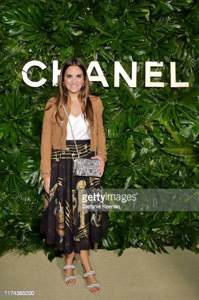 Laure Hériard Dubreuilwearing CHANEL attends Chanel Dinner Celebrating Gabrielle Chanel Essence With Margot Robbie on September 12 2019 in Los...