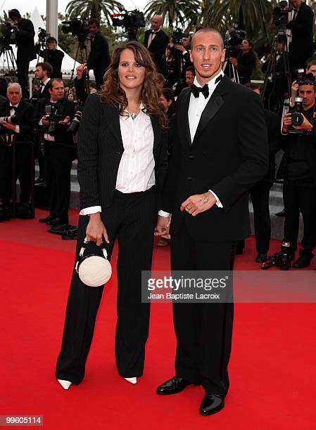 Laure Manaudou and Frederick Bousquet attend the 'The Princess of Montpensier' Premiere held at the Palais des Festivals during the 63rd Annual...