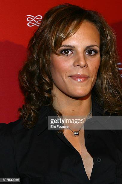 Laure Manaudou at the Lancel Red Party held at the Olympia in Paris