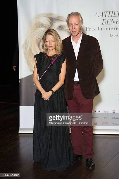 Laure Marsac and guest attend the 'Prix Lumiere 2016' Award Ceremony to Catherine Deneuve during the 8th Film Festival Lumiere on October 14 2016 in...