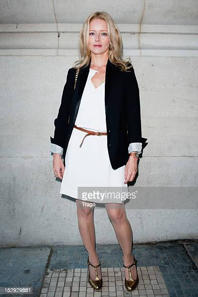 Laure Marsac arrives at the Vanessa Bruno Spring / Summer 2013 show as part of Paris Fashion Week at Grand Palais on September 28 2012 in Paris France