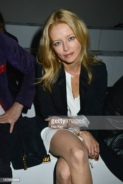 Laure Marsac attends the Vanessa Bruno Front Row Paris Fashion Week Womenswear Spring / Summer 2013 at the Grand Palais on September 28 2012 in Paris...