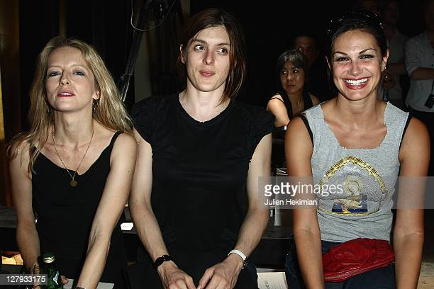 Laure Marsac Valerie Donzelli and Helena Noguerra attend the Vanessa Bruno Ready to Wear Spring / Summer 2012 show during Paris Fashion Week at...