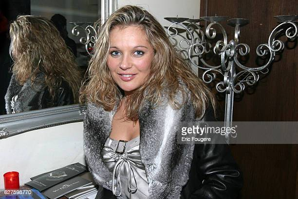 Laure Sinclair attends the party of jeweler Van der Bauwede