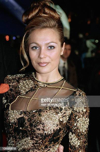 Laure Sinclair in Paris France on February 06 1997