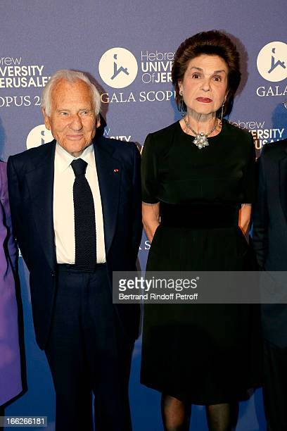 Laureat 2013 Jean d'Ormesson and wife attend 'Scopus Awards 2013' Taste of Knowledge at Espace Cambon Capucines on April 10 2013 in Paris France