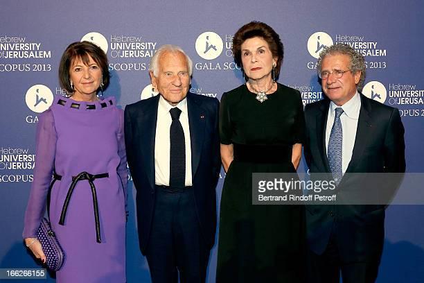 Laureat 2013 Jean d'Ormesson and wife between President UHJ Martine Dassault and husband Laurent Dassault attend 'Scopus Awards 2013' Taste of...
