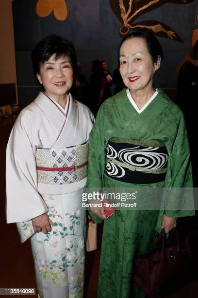 Laureate for AsiaPacific Professor Maki Kawai from Japan and Setsuko Klossowska de Rola attend the 2019 L'Oreal UNESCO for Women in Science Awards...