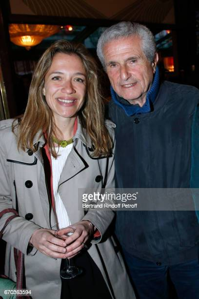 Laureate of the Price for 'Hadamar' Oriane Jeancourt Galignani and President of the Jury Claude Lelouch attend 'La Closerie des Lilas' Literary...