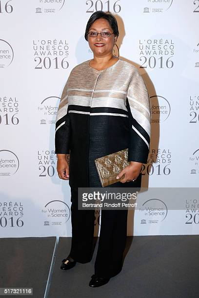 Laureate Professor Quarraisha Abdool Karim attend the L'OrealUNESCO Awards 2016 For Women in Science International hosted by Fondation l'Oreal at...